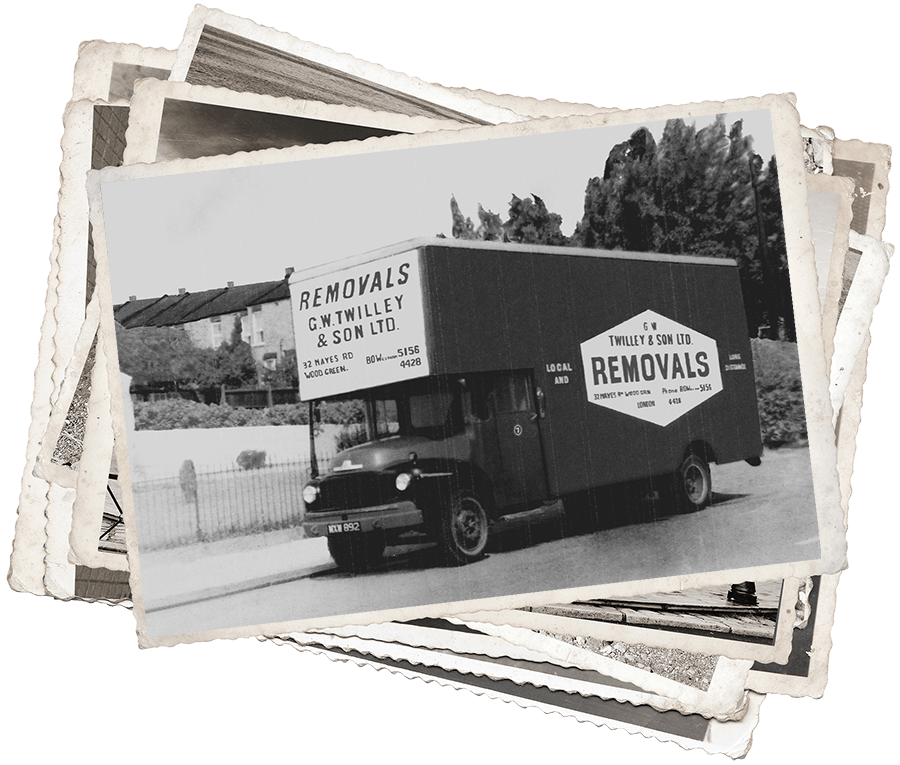 removals truck after world war II